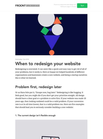 図1 Webサイトのデザインリニューアルをすべき時