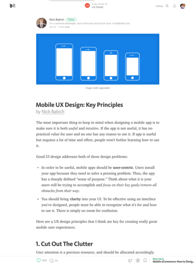 図2 モバイルUXデザインの法則
