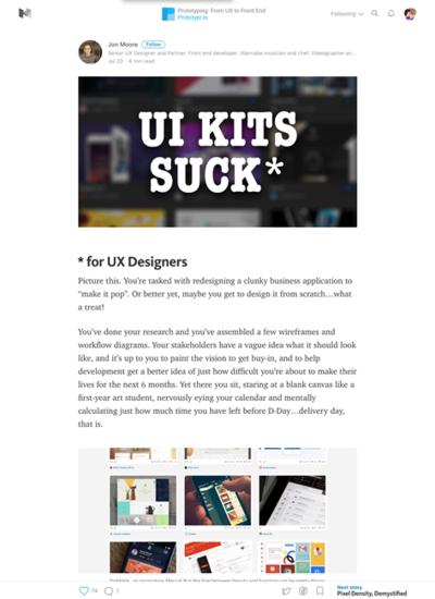 図2 UIキットはなぜUXデザインに使えないのか