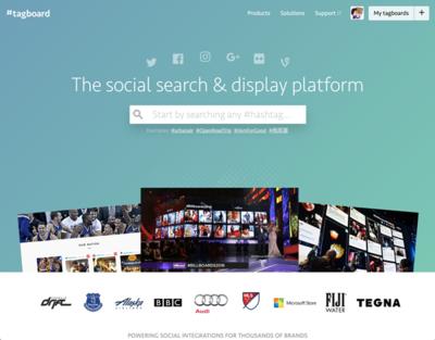 図6 複数のソーシャルメディアを横断してハッシュタグ検索できるサービス