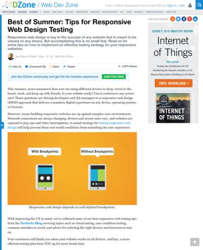 図1 レスポンシブWebデザインのテストで気をつけること