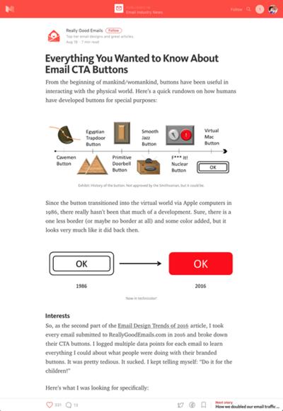図3 メールマガジンでのボタンについて