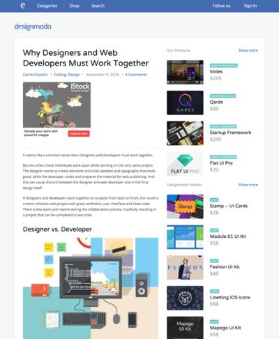 図2 デザイナーとWebデベロッパーが一緒に作業をするべき理由