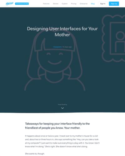 図2 ユーザーインターフェイスを母親にも分かるように作るヒント