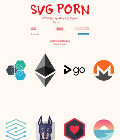 図6 SVG形式のロゴを探してダウンロードできるサービス