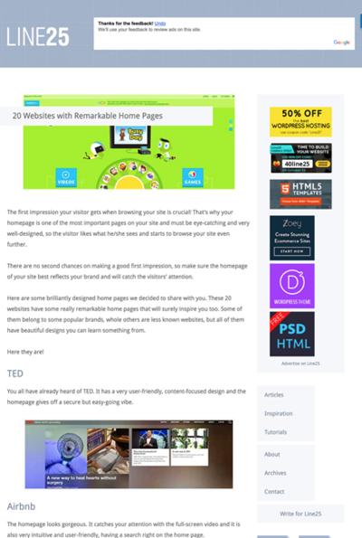 図5 注目すべきトップページを持つWebデザインのギャラリー