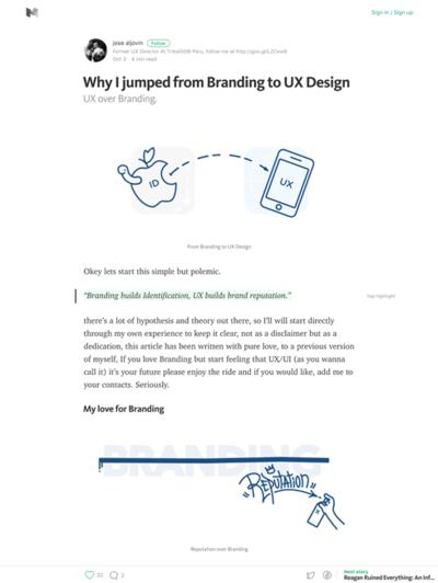 図1 ブランディングからUXデザインに転向した理由