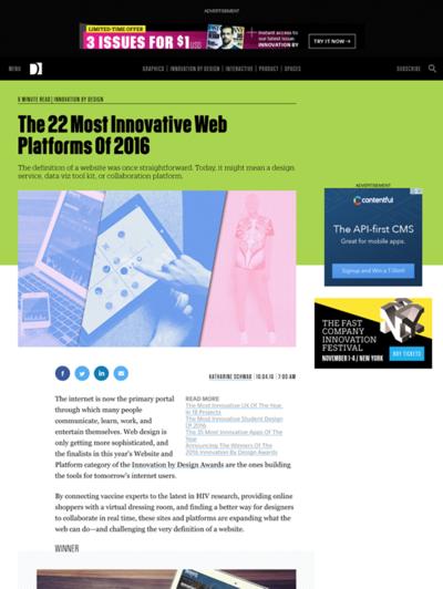 図6 革新的なWebプラットホームいろいろ