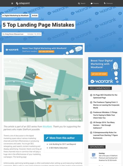 図4 ランディングページでよくある5つの失敗