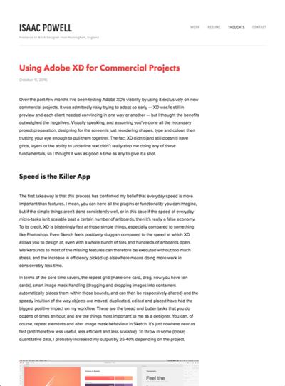図5 Adobe XDは実際の仕事に使えるのかを考察