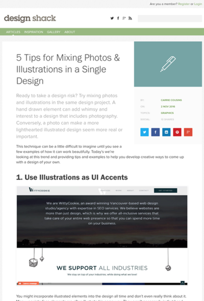 図2 写真とイラストを同時に使ったデザインのテクニック