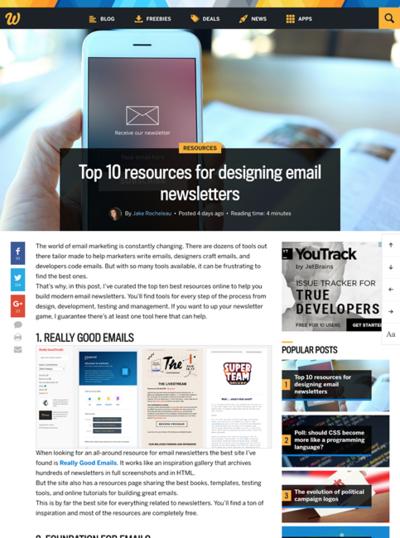 図5 メールによるニュースレターを作るための情報源10選