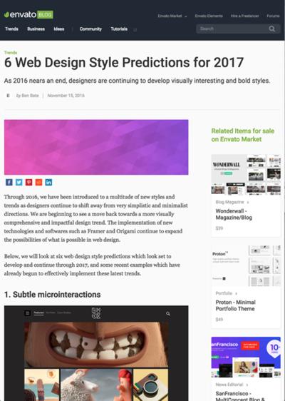 図1 2017年のWebデザインの手法を予測