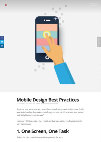 図2 モバイルデザインの最善の技法