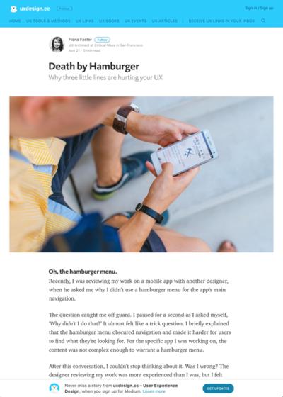 図2 ハンバーガーメニューはなぜダメなのか