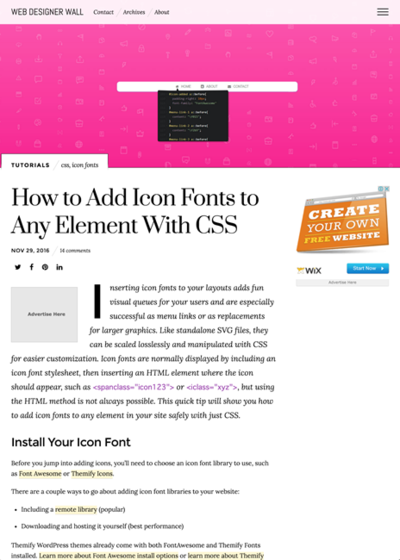 図3 アイコンフォントをCSSで指定する方法