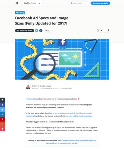 図4 Facebook広告の仕様のまとめ