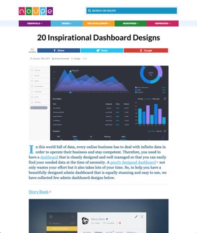 図5 ダッシュボードデザインのギャラリー