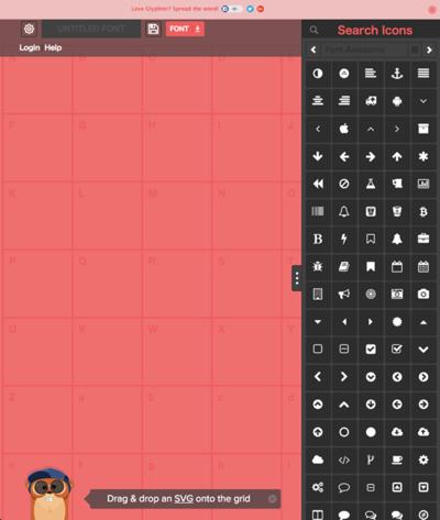 図6 SVGから独自のアイコンフォントを作れるサービス