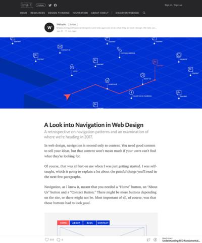 図1 Webデザインのナビゲーションの過去と未来
