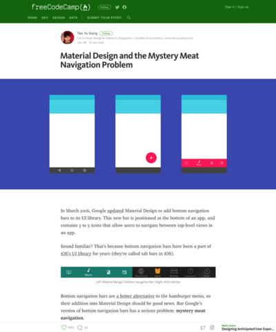 図4 マテリアルデザインのナビゲーションボタン問題