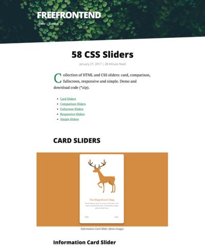 図5 58種類のスライダーを紹介