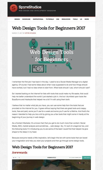 図4 初心者のためのWebデザインツールのまとめ