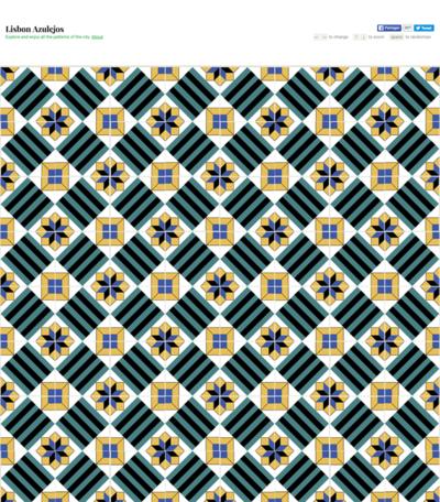 図6 リスボンのタイルパターンをダウンロードできるサービス