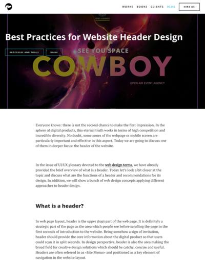 図1 ヘッダーデザインの重要性と効果的なデザインのヒント