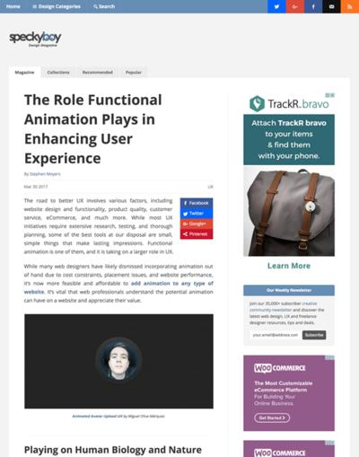 図2 ユーザー体験を強化する機能的なアニメーションについて