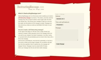 図6 自動消去されるメッセージを作れるサービス