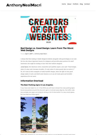図2 悪いデザインからウェブデザインを学ぶ