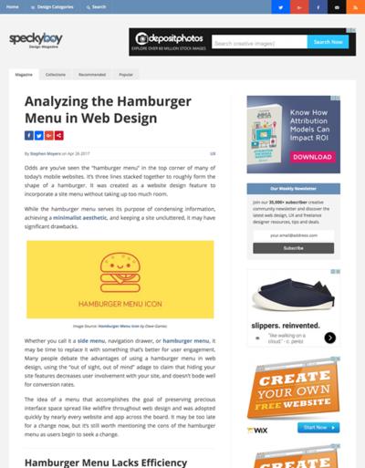 図3 ハンバーガーメニューの分析