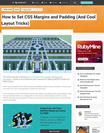 図4 CSSのマージンとパディングの使い方