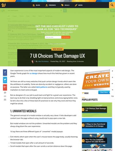 図1 UXに悪影響を与えるUI7選