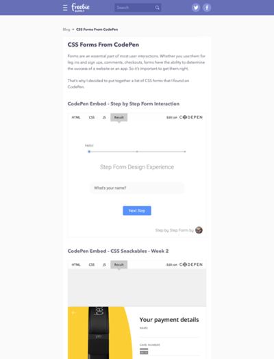 図4 フォームのデザイン&コーディング例を多数紹介