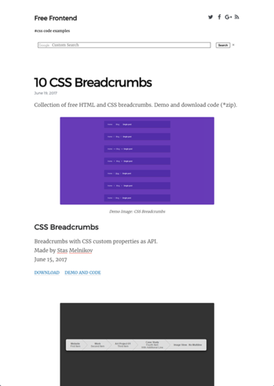 図4 パンくずリストのCSSデザイン例いろいろ
