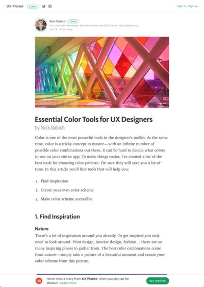 図6 カラーパレットを作るためのサービスいろいろ
