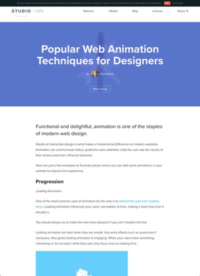 図2 Webアニメーションのテクニックを紹介
