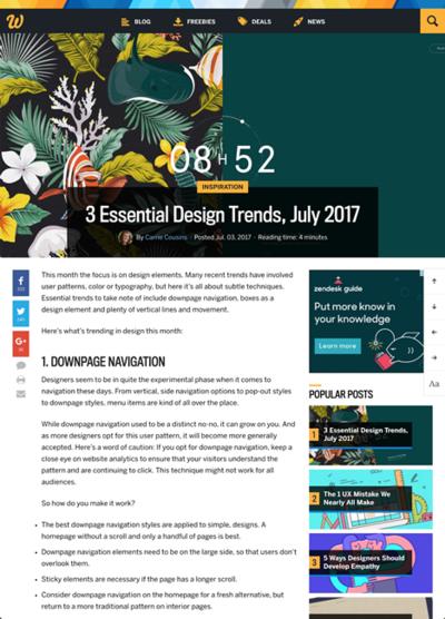 図3 重要なウェブデザインのトレンド3つ