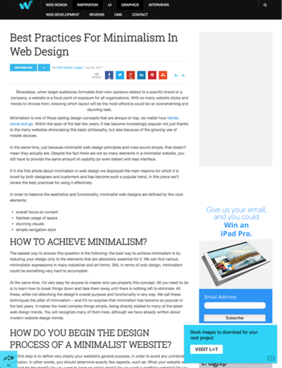 図3 Webデザインにミニマリズムを取り入れるためのヒント