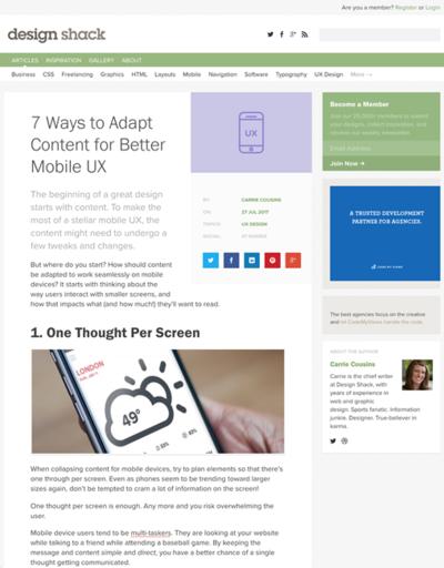 図1 モバイルUXのためにコンテンツ最適化する7つの方法