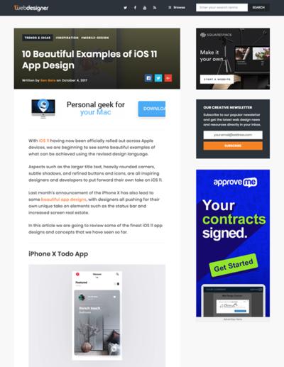 図5 iOS11での美しいアプリデザインの例いろいろ