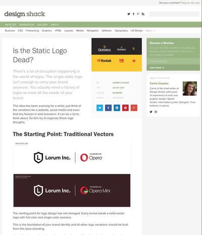 図1 静的なロゴの時代が終わった現在のロゴ事情について