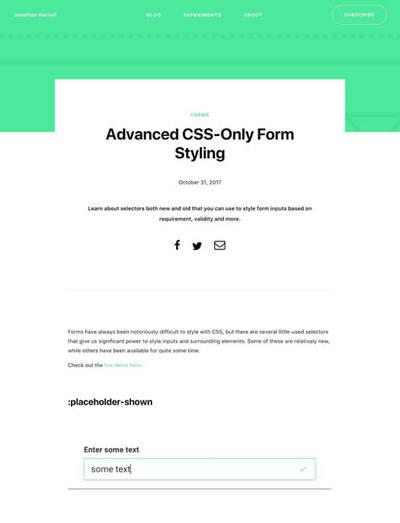図3 CSSだけでフォームをスタイリングする最新テクニック