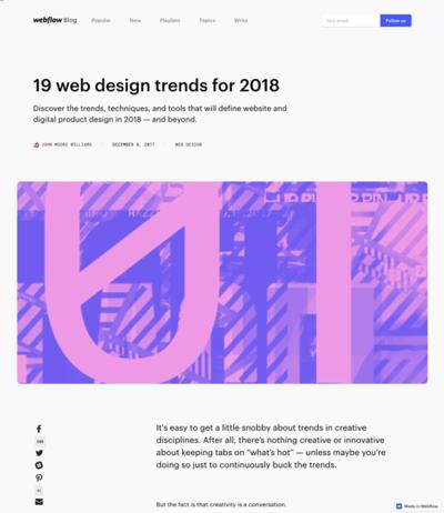 図2 2018年のウェブデザインのトレンド予想