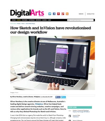 図3 SketchとInVisonがデザインワークフローにどう革命をもたらしたか