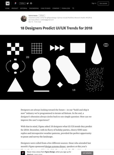 図2 18人のデザイナーによるUI/UXのトレンド予想