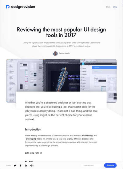 図1 2017年に人気のUIデザインツールまとめ