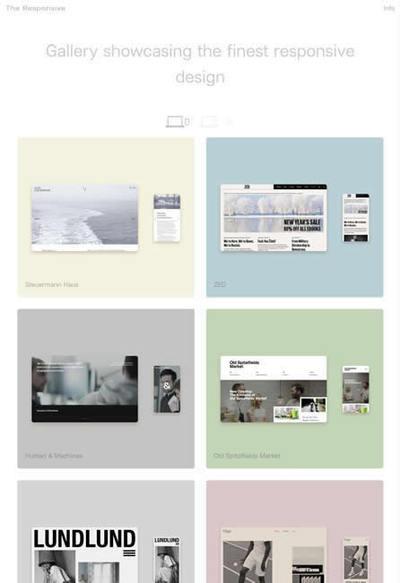図5 レスポンシブなウェブデザインのギャラリーサイト